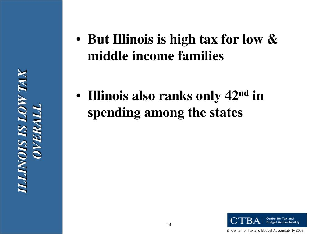 But Illinois is high tax for low & middle income families
