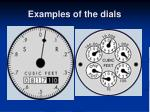 examples of the dials