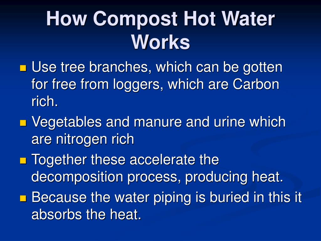 How Compost Hot Water Works