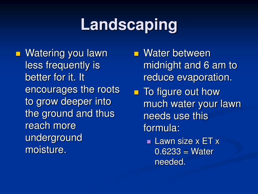 Watering you lawn less frequently is better for it. It encourages the roots to grow deeper into the ground and thus reach more underground moisture.