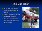 the car wash