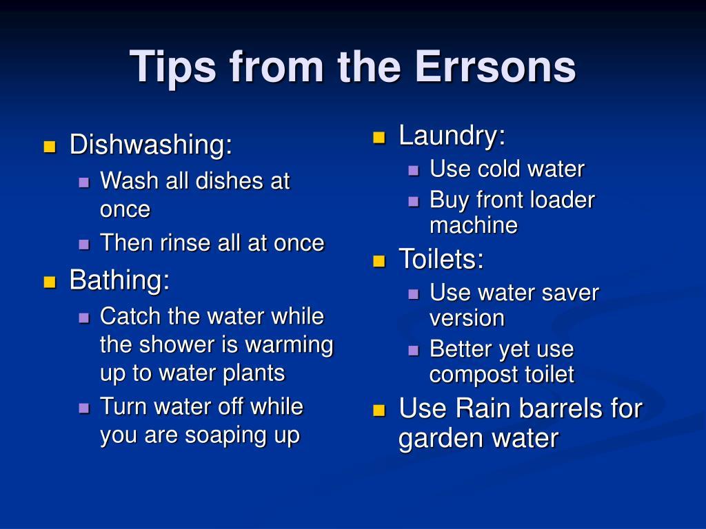 Dishwashing: