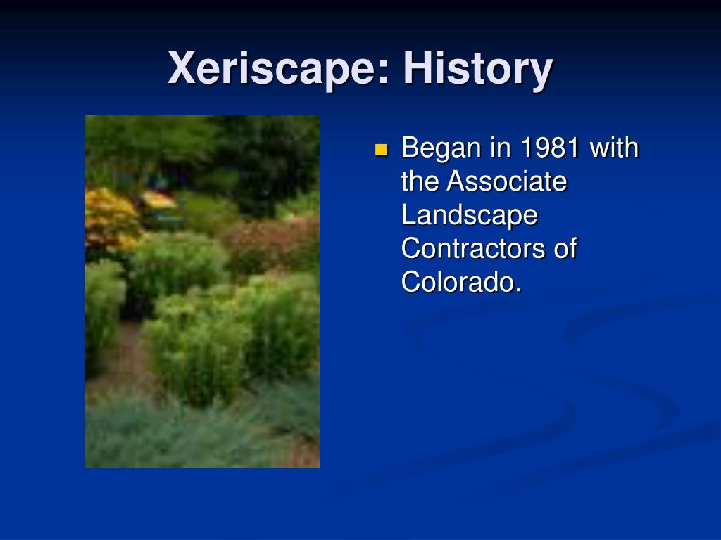 Began in 1981 with the Associate Landscape Contractors of Colorado.