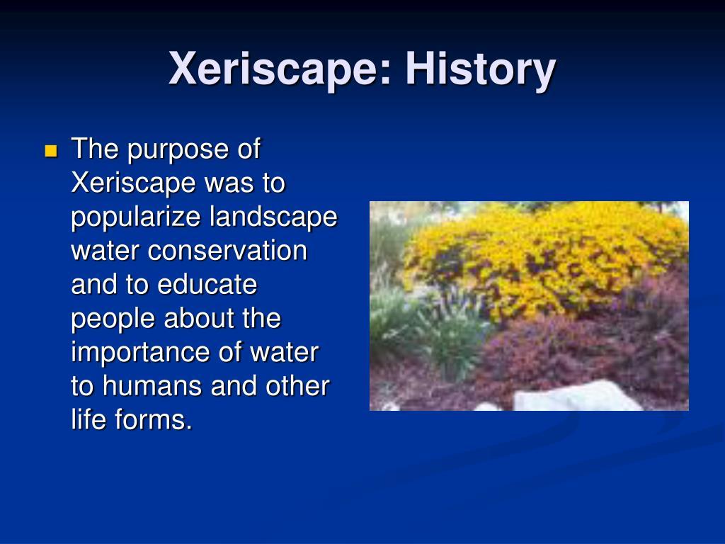 Xeriscape: History