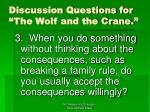 discussion questions for the wolf and the crane22
