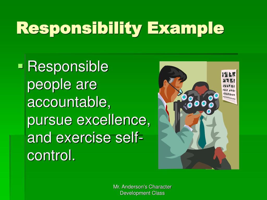 Responsibility Example