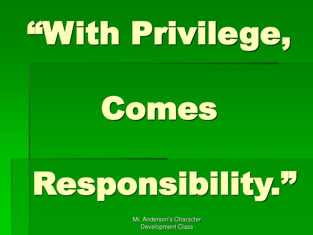 """""""With Privilege,"""