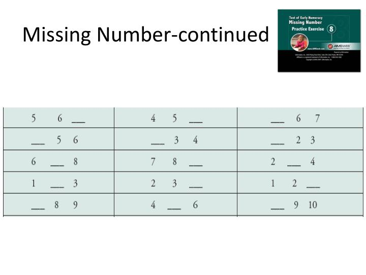 Missing Number-continued