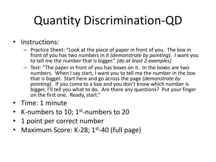 Quantity Discrimination-QD