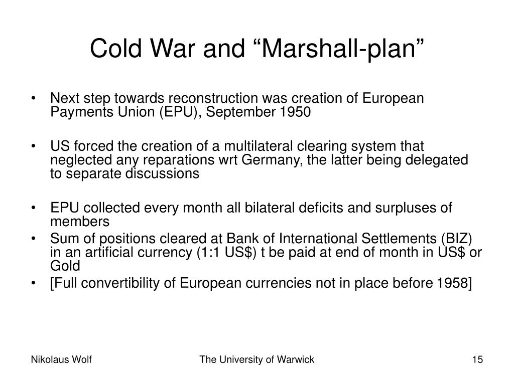 """Cold War and """"Marshall-plan"""""""