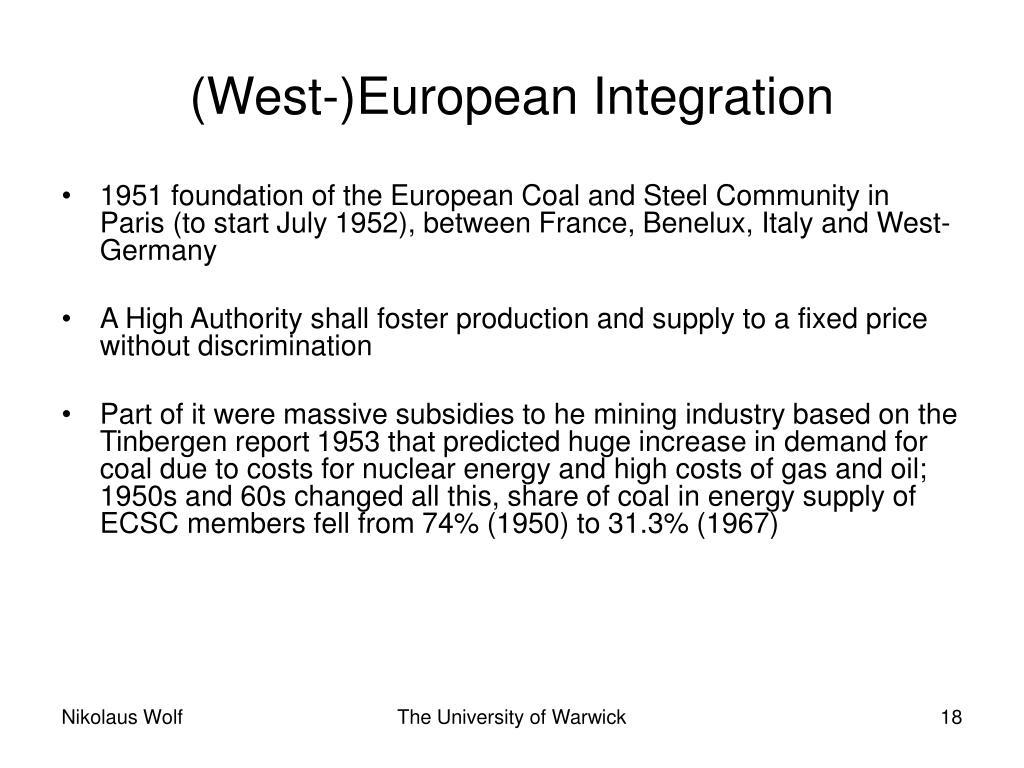 (West-)European Integration