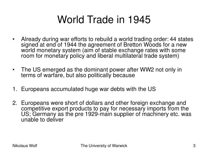 World trade in 19453