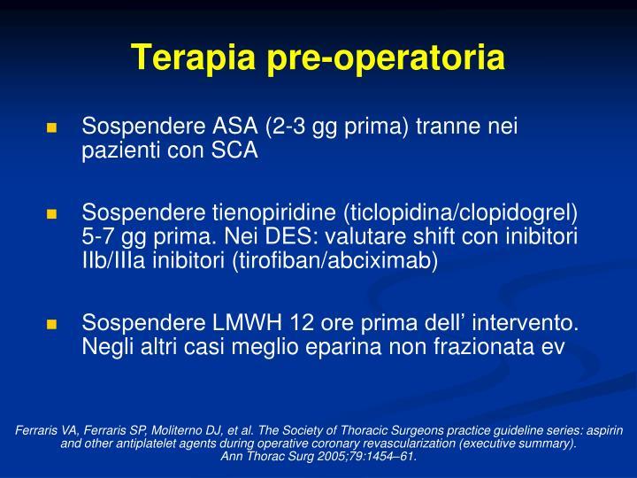 Terapia pre-operatoria