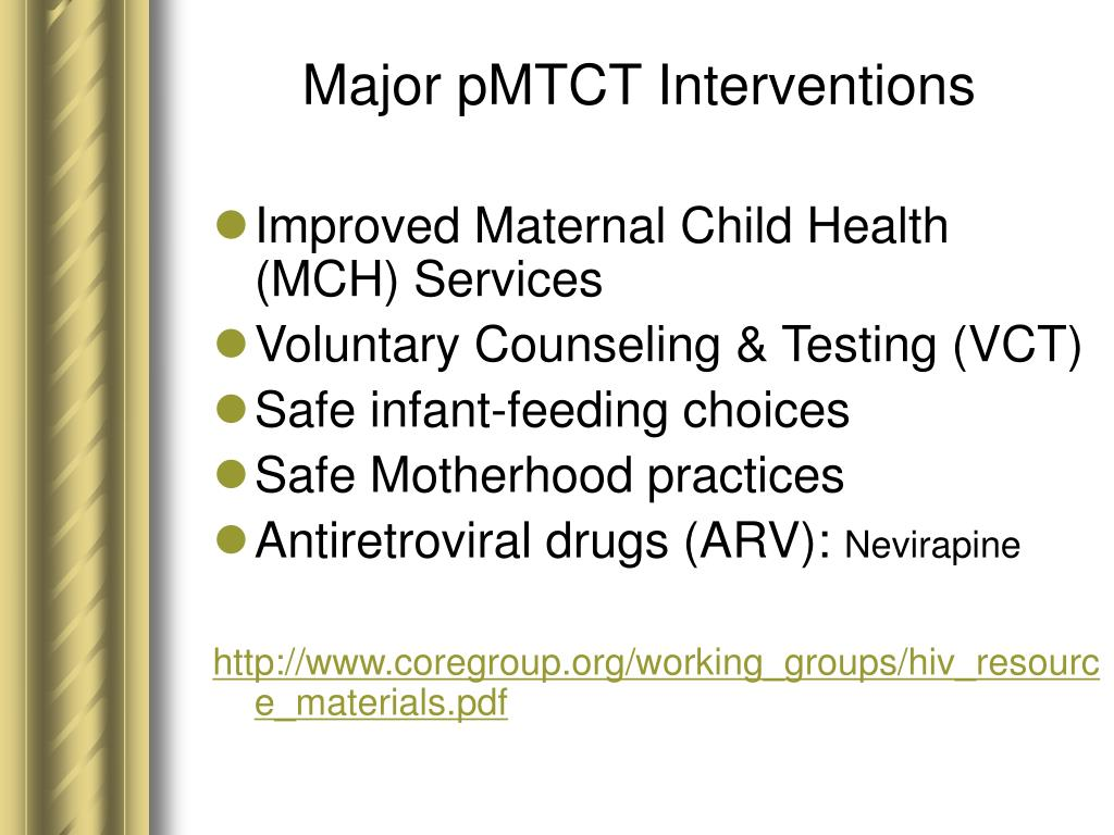 Major pMTCT Interventions