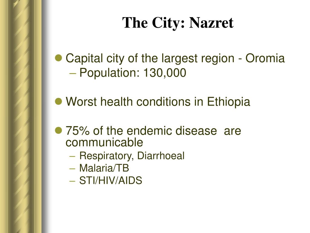 The City: Nazret