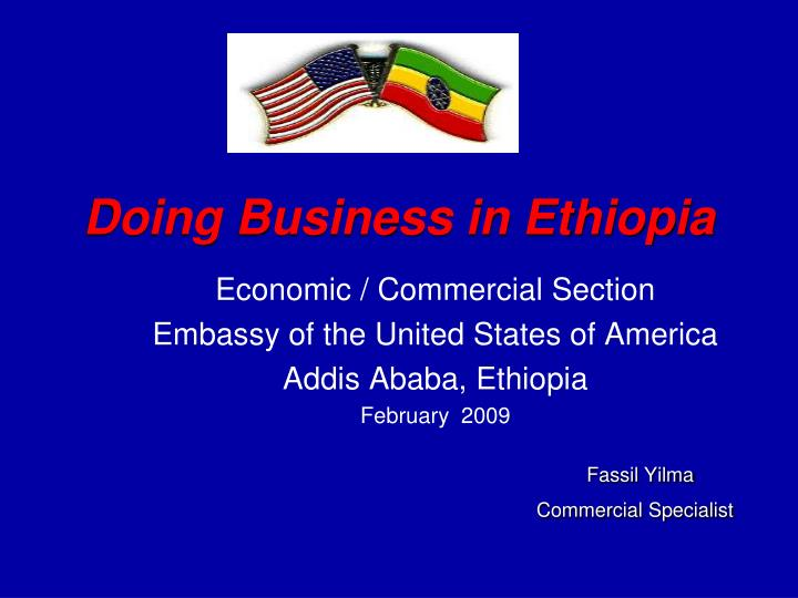 Doing business in ethiopia l.jpg