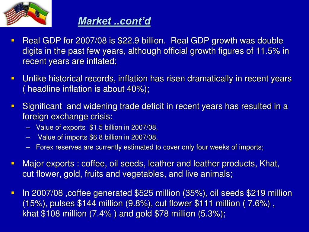 Market ..cont'd