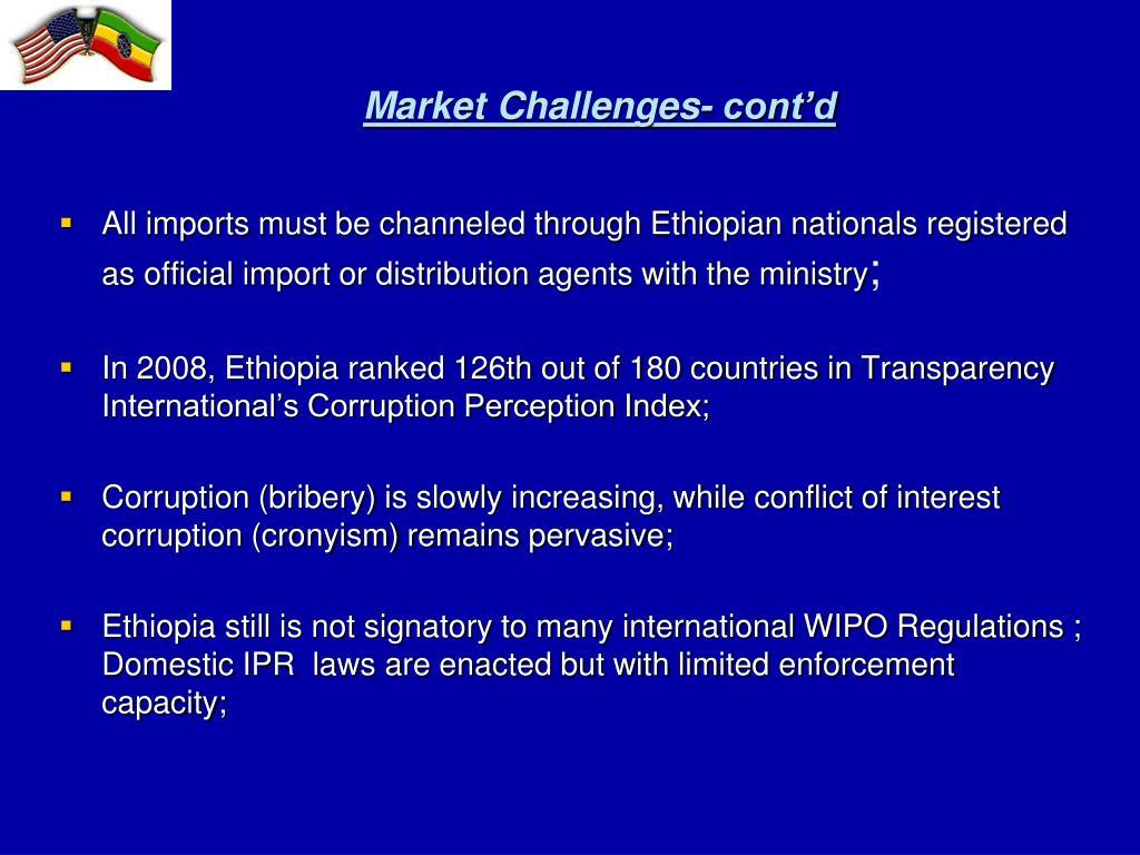 Market Challenges- cont'd