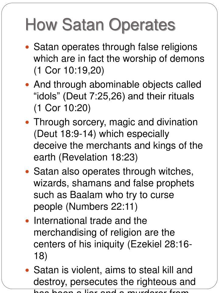 How Satan Operates