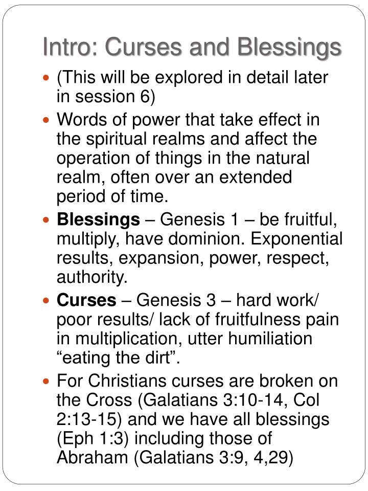 Intro: Curses and Blessings