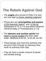 the rebels against god