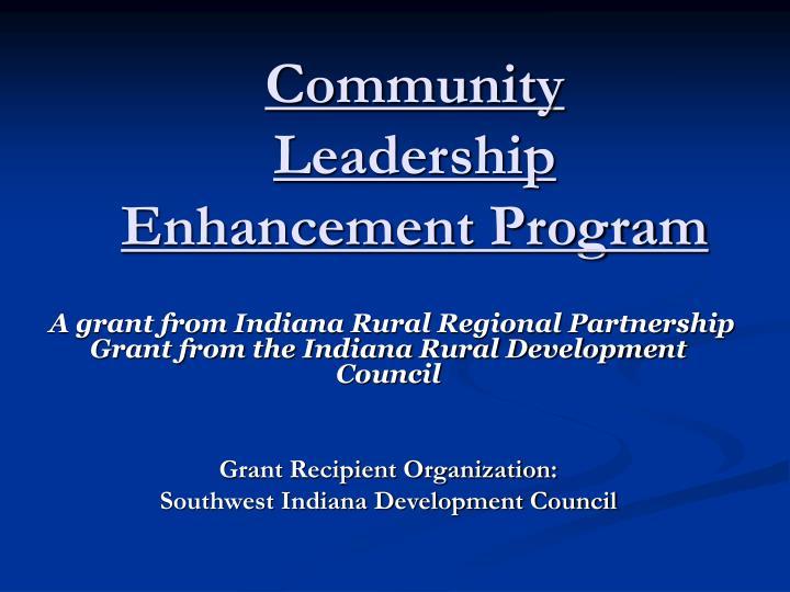Community Leadership Enhancement Program
