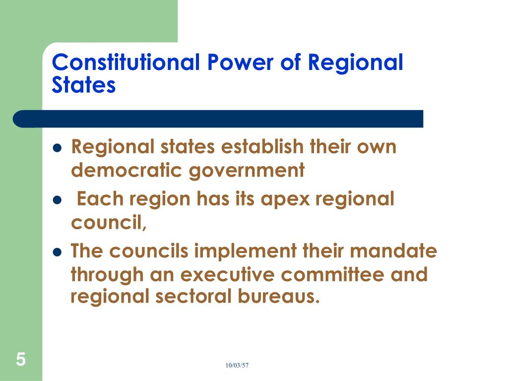 Constitutional Power of Regional States