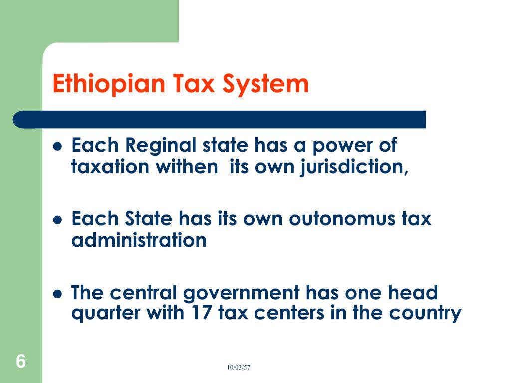 Ethiopian Tax System