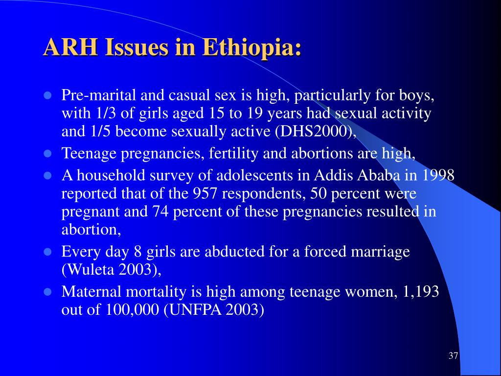 ARH Issues in Ethiopia: