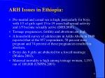 arh issues in ethiopia