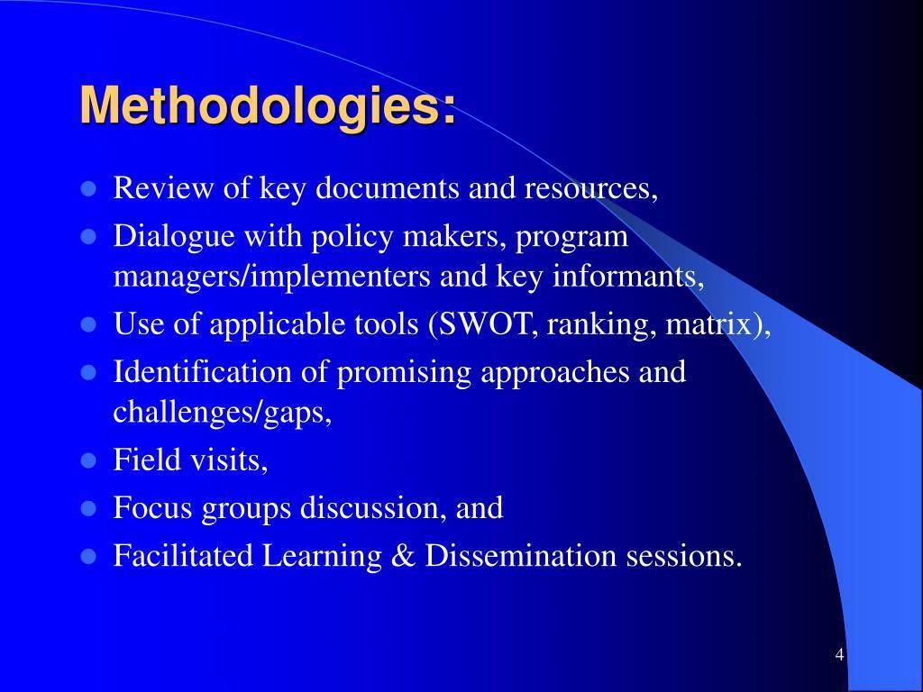 Methodologies: