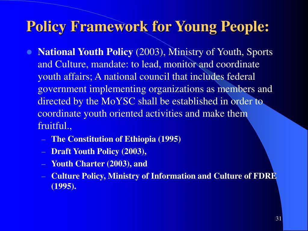 Policy Framework for Young People: