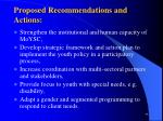 proposed recommendations and actions35