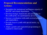 proposed recommendations and actions36
