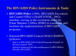 the hiv aids policy instruments tools