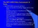 the hiv aids policy instruments tools17