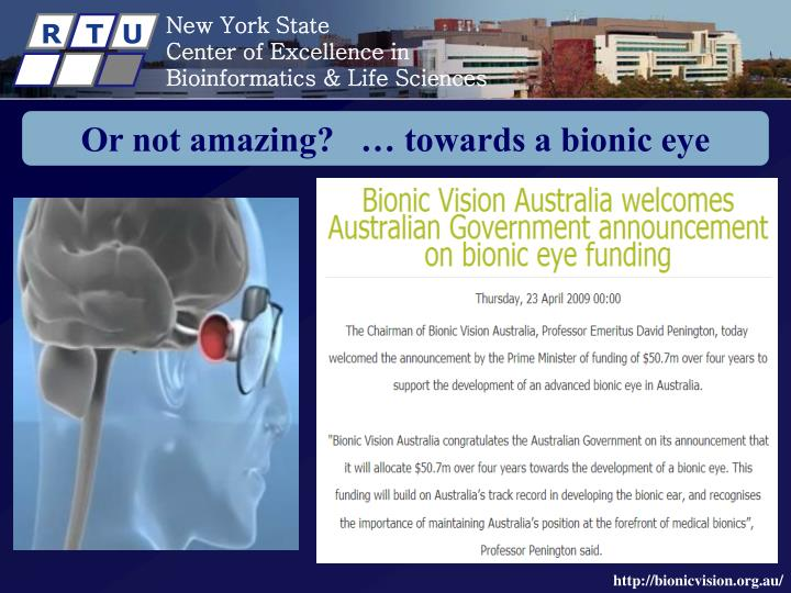 the concept of a bionic eye biology essay The concept of the uncanny valley suggests  introduced in a 1906 essay entitled  have we finally gotten past the 'uncanny valley' (where the mind/eye discerns.