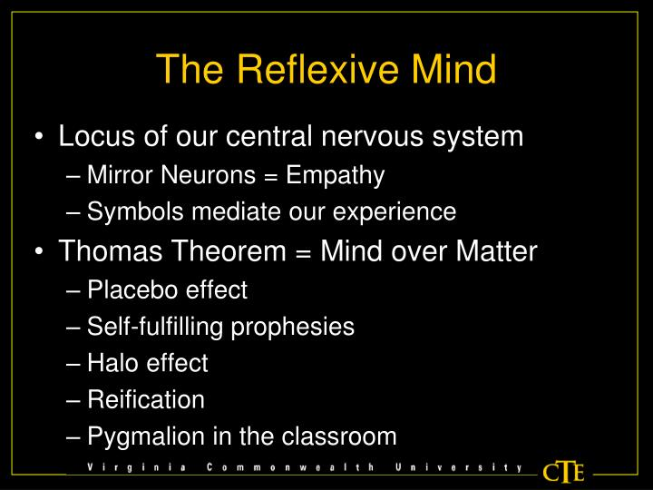 The Reflexive Mind