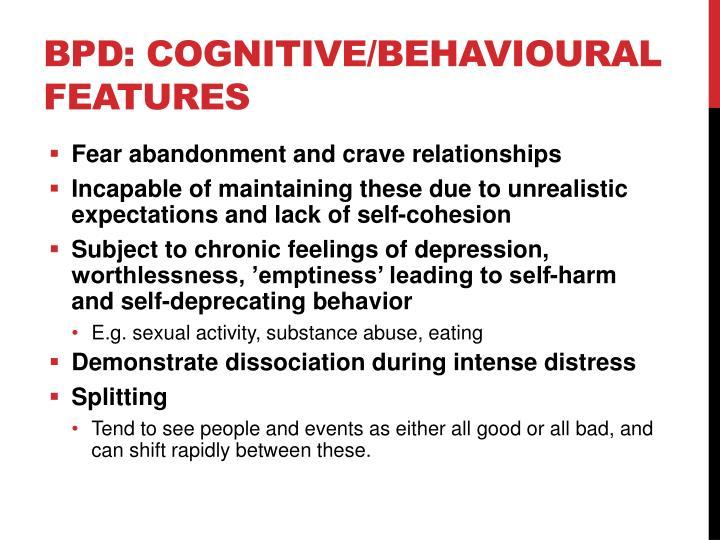 BPD: Cognitive/