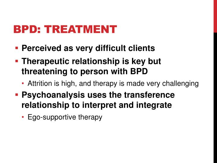 BPD: Treatment