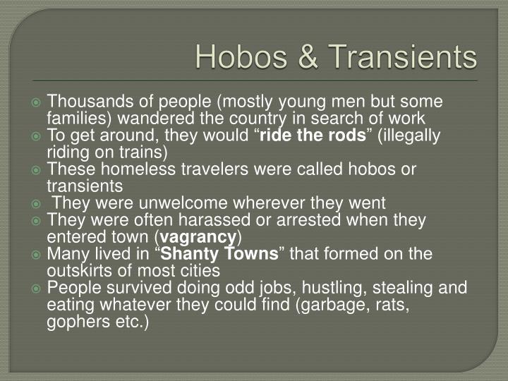Hobos & Transients
