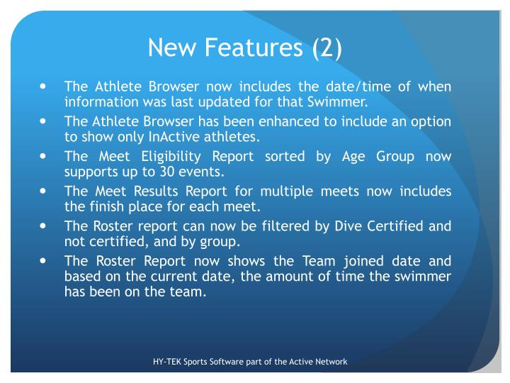 New Features (2)
