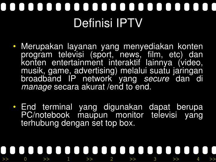 Definisi IPTV