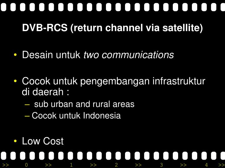 DVB-RCS (return channel via satellite)