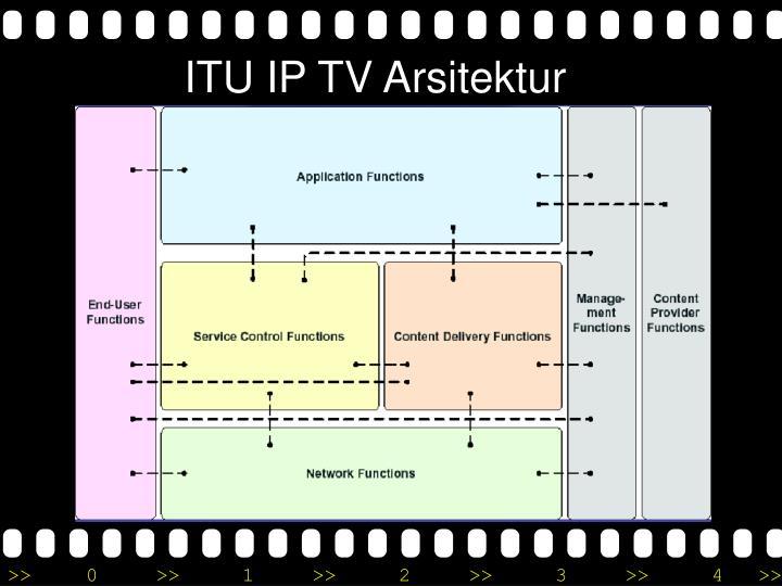 ITU IP TV Arsitektur