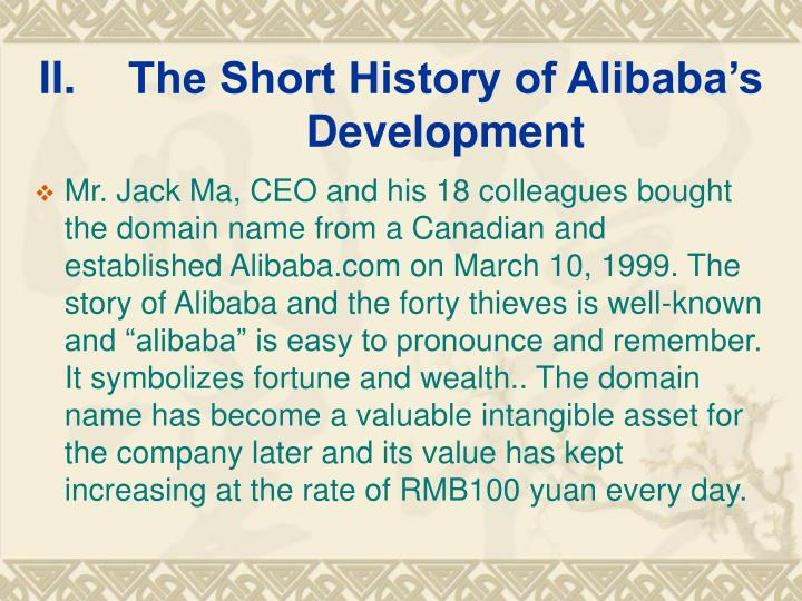 The Short History of Alibaba's Development