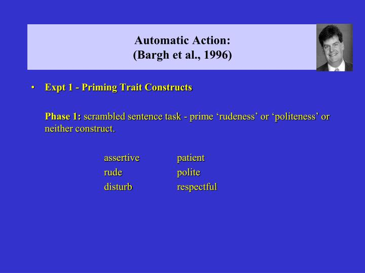Automatic Action: