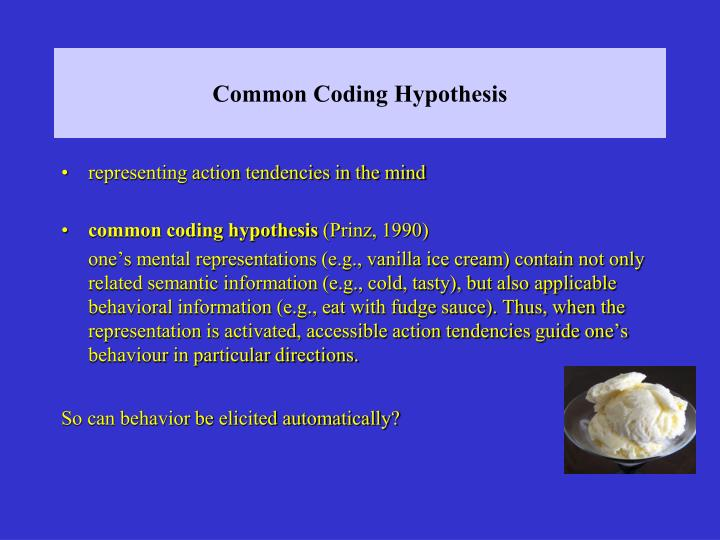 Common Coding Hypothesis