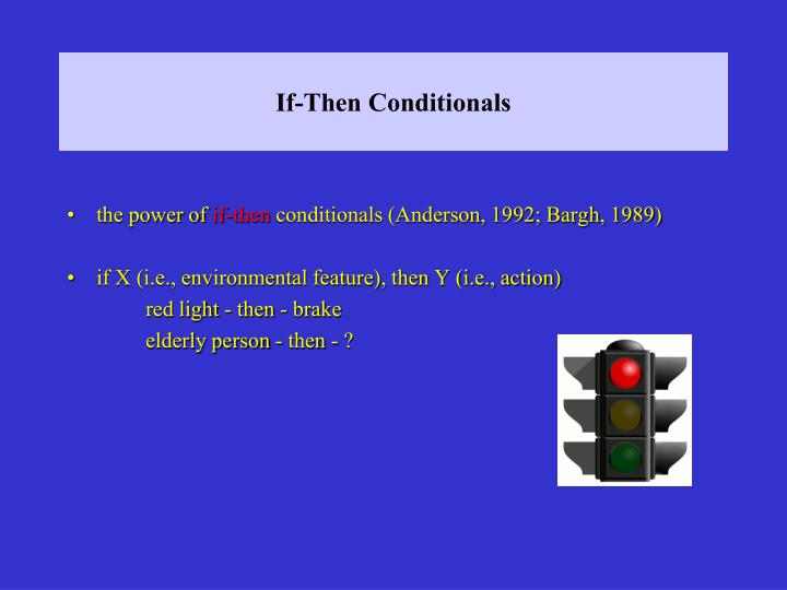 If-Then Conditionals