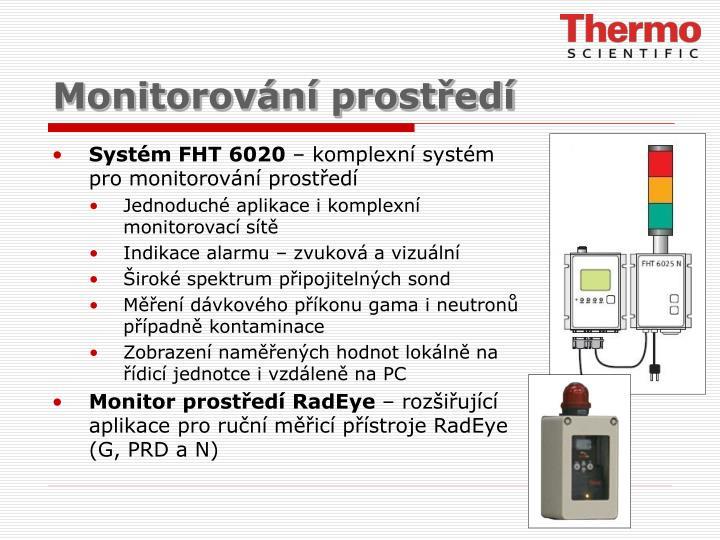 Monitorování prostředí